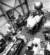 Alvin during refit of the personnel sphere