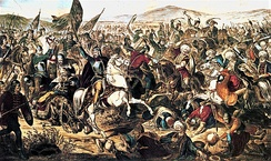 The Battle of Kosovo (1389) is particularly important to Serbian history, tradition and national identity.[36]