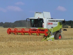 A German combine harvester by Claas