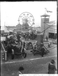 The 'Clyde Engineering' Pavilion at the Sydney Royal Easter Show, circa 1900.