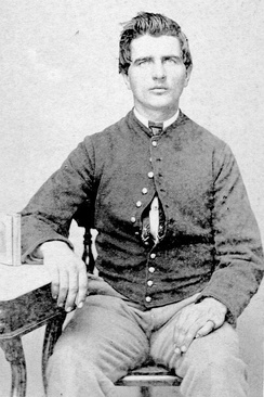 Collins P. Waterman (1838-1910), Co. H of the 77th Illinois Volunteer Infantry Regiment; enlisted 11 August 1862; mustered out 10 July 1865[1]
