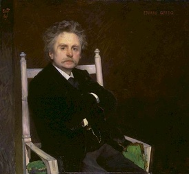 Edvard Grieg, portrait by Eilif Peterssen (1891)