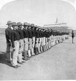 The first company of Puerto Ricans enlisted in the U.S. Army, 1899