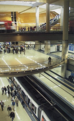 The Getafe Central station on Line 12 of Madrid Metro has several levels.