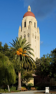 Hoover Tower, inspired by the cathedral tower at Salamanca in Spain