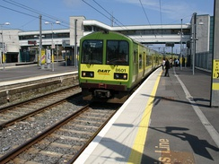 DART 8500 class commuter EMU at Howth Junction railway station