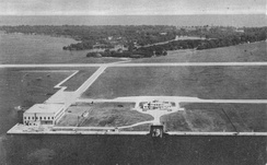The airport and the islands in 1944.