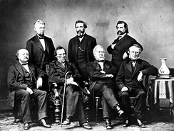 The Johnson Impeachment Committee, c. 1868 (photo by Mathew Brady