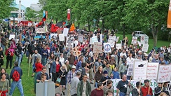 22 June 2007 demonstration in Québec City against the Canadian military involvement in Afghanistan