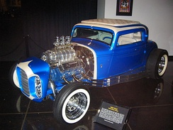 "The ""little deuce coupe"" that appeared on the cover of the Beach Boys' album Little Deuce Coupe (1963)"
