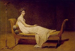 Madame Récamier painted by Jacques-Louis David (1800).