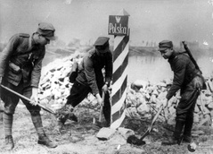 Marking the new Polish-German Border in 1945