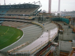 The Ponsford Stand undergoing reconstruction in 2003.