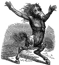 An early woodcut image of Orobas.