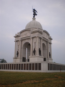 The Pennsylvania Memorial is the battlefield's largest and 1 of  over 12 state monuments.