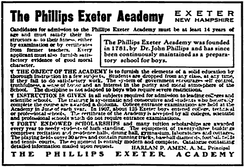 1909 advertisement for the school