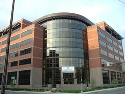 The newly completed Medical Office Plaza on the University of Louisville's downtown Health Sciences Campus