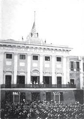 Raising the U.S. Flag over San Juan, October 18, 1898