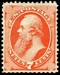The 1st Stanton postage stamp, issue of 1871