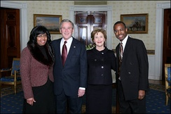 Ben and Candy Carson with George and Laura Bush in 2008