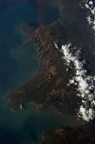 Wales pictured from the International Space Station