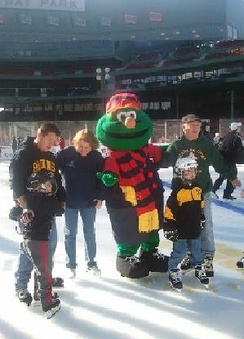 Wally at Frozen Fenway 2012