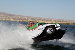 Water Car Panther driving at High Speeds on Lake Havasu, AZ.