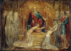 The Judgment of Solomon by William Blake in Tempera. Currently, the object is held at the Fitzwilliam Museum.[53]