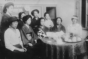 Women's Rights meeting in Tokyo, to push for women's suffrage