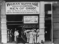 Woman Suffrage Headquarters, Cleveland, 1913