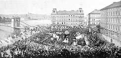 Ceremonial laying of the foundation stone of the National Theatre during the Czech National Revival, 1868