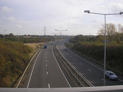 The A5 (Thomas Guy Way) passing through Tamworth, looking south from Glascote