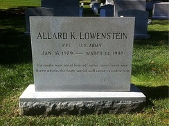 Lowenstein's grave at Arlington National Cemetery