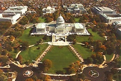 A 2007 aerial view of the Capitol Grounds from the west