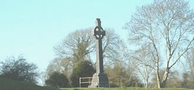 Memorial cross on the site of the Battle of Aughrim, where 7000 men died on 12 July 1691 and the Jacobite cause in Ireland was defeated