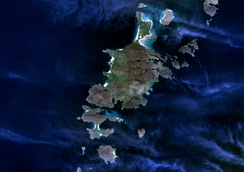 Satellite photo of Barra, Vatersay and surrounding islands