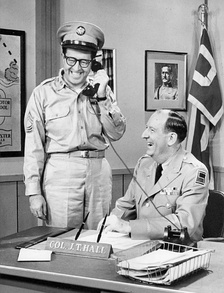 Sgt. Bilko with Col. Hall