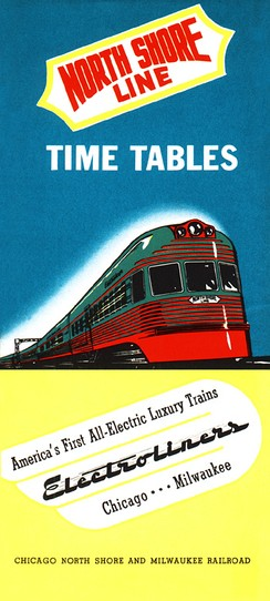 North Shore Line 1941 timetable cover