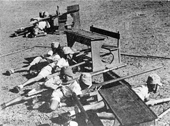 Indonesian youths being trained by the Japanese army.