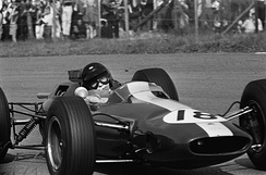 Jim Clark at the 1964 Dutch Grand Prix.