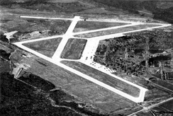 Early 1942 airphoto of Kaye Field, later Columbus Army Airfield