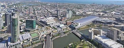 Melbourne's entertainment and conference precinct (Crown Casino and Convention Centre) make substantial annual contributions to the Victorian economy (AU$2 billion and AU$3 billion respectively).[150]