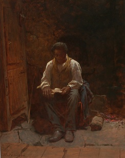 "Eastman Johnson's 1863 painting ""The Lord is My Shepherd"""