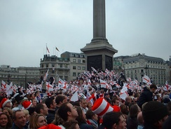 Celebrations in Trafalgar Square