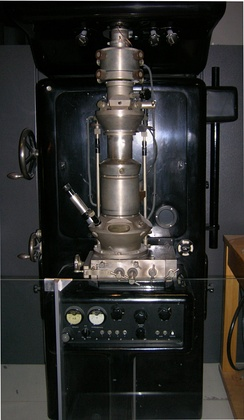 Electron microscope constructed by Ernst Ruska in 1933