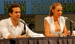 Reynolds and wife Blake Lively promoting Green Lantern in 2010