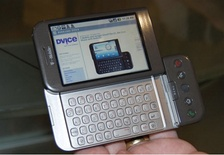 HTC Dream or T-Mobile G1, the first commercially released device running Android (2008)
