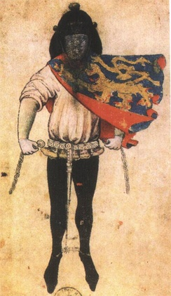 Herald Gelre of the Duke of Gueldres (around 1380).