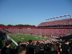 High Point Solutions Stadium is home to Scarlet Knights football.
