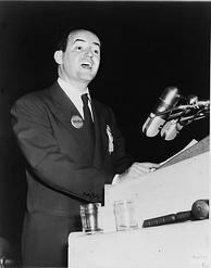 Humphrey speaks at the 1948 Democratic National Convention.